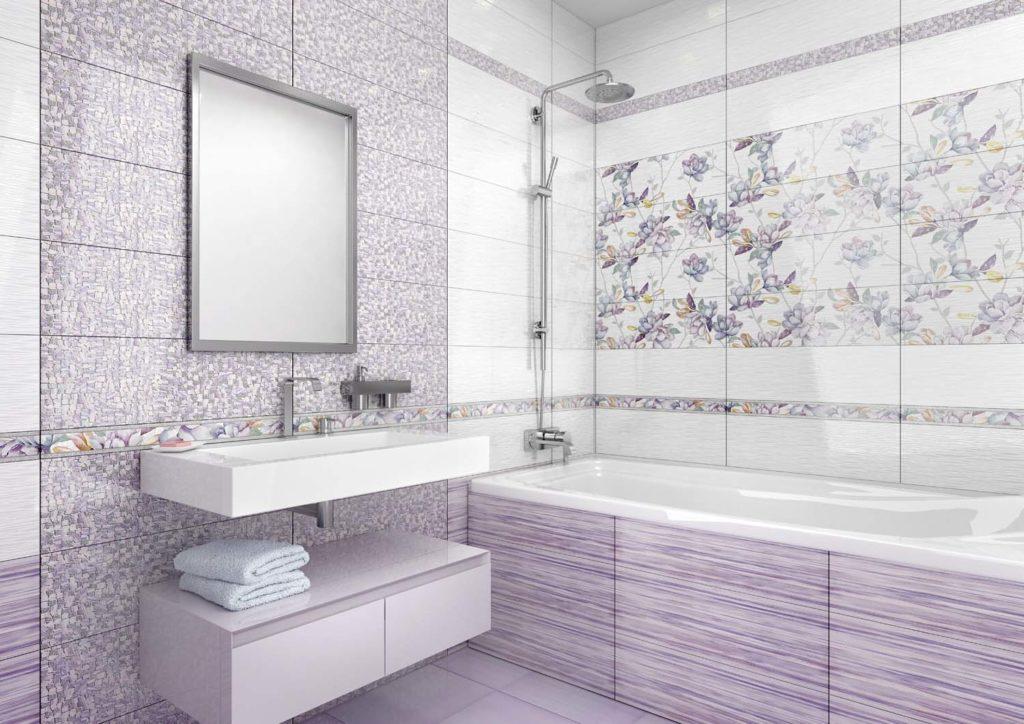 Ванная комната в фиолетовых тонах