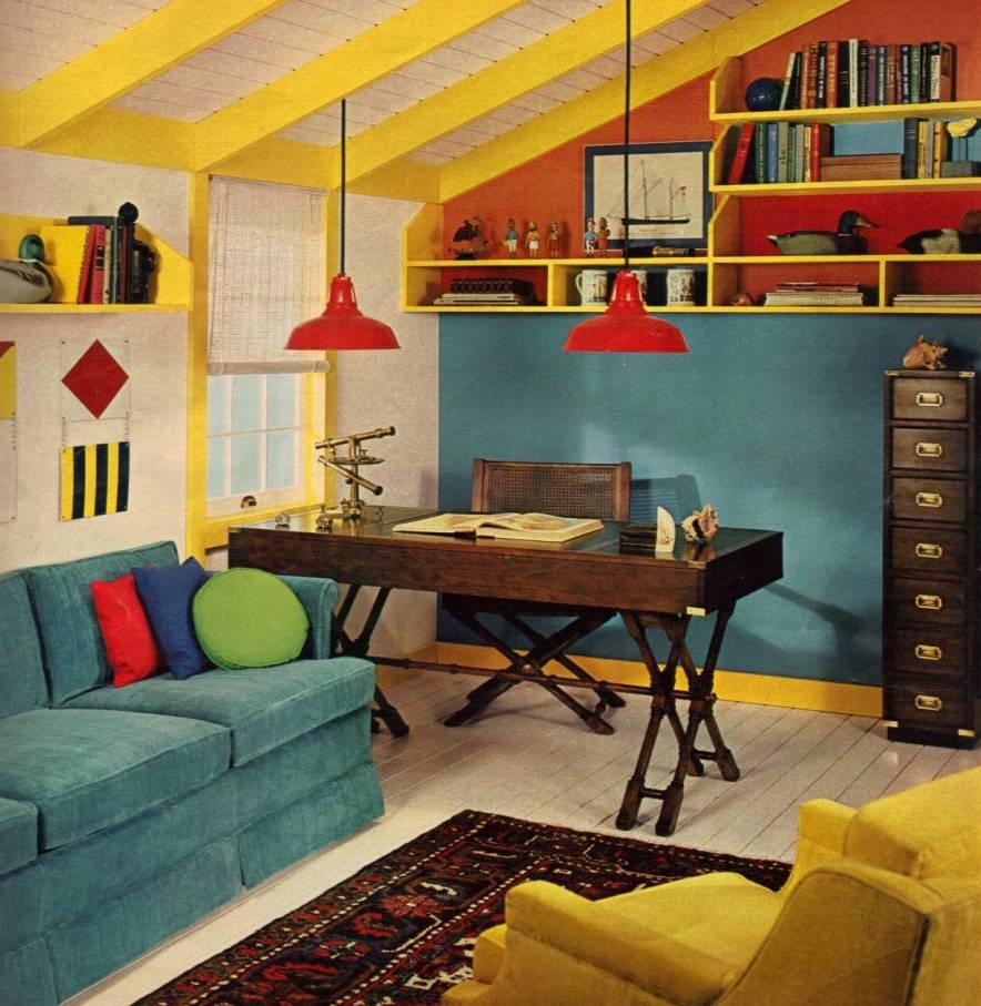 Дизайн интерьера 70-80-х годов в современном интерьере