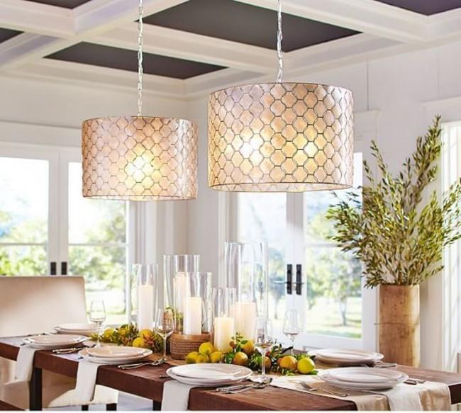 Стильные кухонные люстры