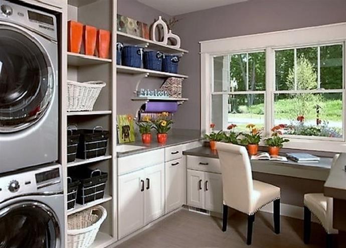 функциональное пространство прачечной и кухни