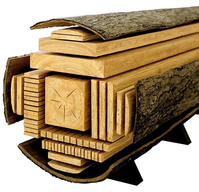 распил древесины
