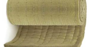 Минераловатные прошивные маты и цилиндры