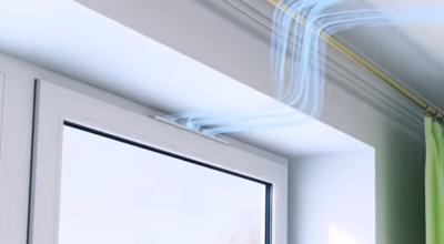 Приточный клапан на окно